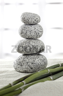 Steinpyramide, Bambus, Entspannung