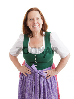 Female pensioner in a bavarian Dirndl