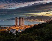Night view of Nha Trang city, Vietnam