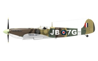 3d rendering of a world war 2 airplane isolated on white background