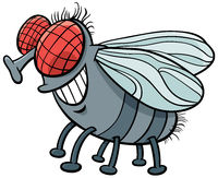fly insect character cartoon illustration