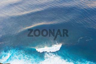 Aerial view ocean wave background