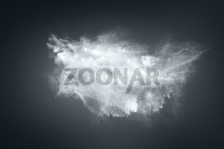 Dust powder cloud background