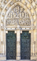 Door of Saint Vitus cathedral in Prague