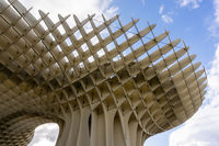 view of the Metropol Parasol in Sevilla