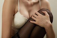 stockings and bra