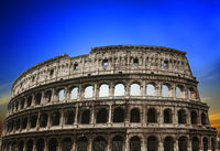 The beautiful view of the Great Colosseum