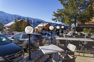 Meribel ski resort, France.