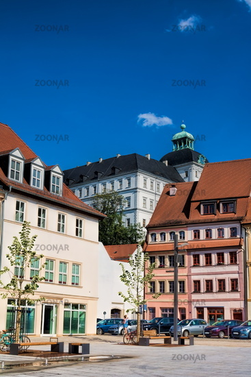 Weißenfels, Germany - 18.06.2019 - old town with a castle