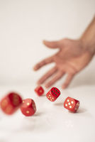 Red Rolling Dices