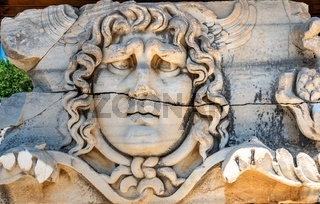 Bas-reliefs in the Temple of Apollo at Didyma, Turkey