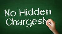 No Hidden Charges Chalk Illustration