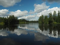 River and lake landscape in Central Sweden