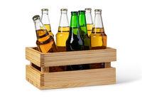 Beer wooden box