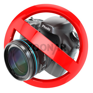 No photography sign.  Photo camera prohibition