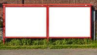 Zwei leere Plakatwände als Außenwerbung für Promotion