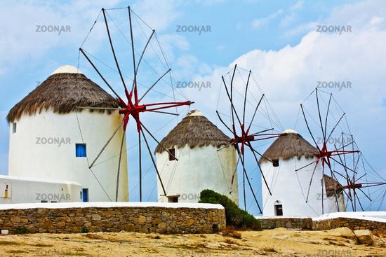 Wind mills of Mykonos.
