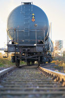 Tank car in an industrial area in the port of Magdeburg in Germany