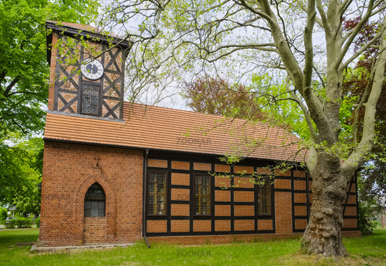 Village church Wutzetz, Oberhavel, Brandenburg, Germany