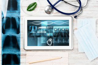 Medical diagnostics in modern hospital.