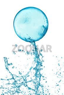 Splash water ball isolated