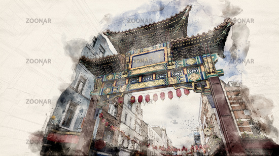 London Chinatown Gate