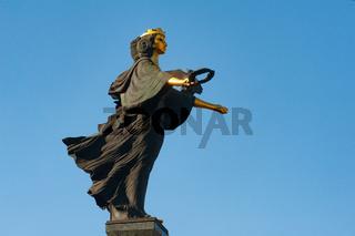 The Statue of Sveta Sofia, Saint Sophia, Bulgaria, Europe,