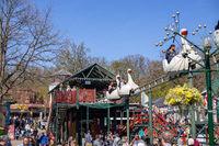 Bakken Amusement Park in Copenhagen, Denmark