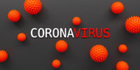 corona virus covid 19 symbol on dark background