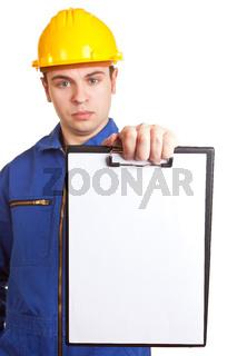 Handwerker mit Mängelliste