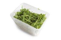 Arugula in plastic bag