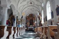 baroque interior decoration of the parish church of St. Mary Assumption