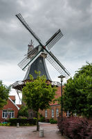 Windmill Ditzum, Rheiderland, East Frisia, Lower Saxony, Germany