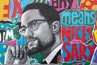 Malcom X Graffiti on the wall, Berlin