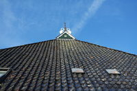 Tile roof with gable decoration