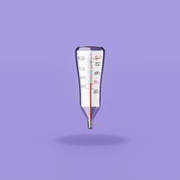Clinical Thermometer on Purple Background