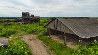 Old wooden constructions in rural area