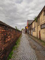 A small road in Carlisle, Cumbria, England