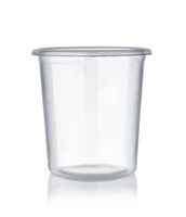 Empty disposable plastic shot glass