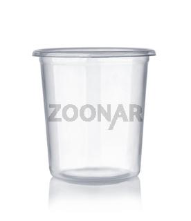 Empty disposable plastic shot glass
