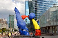 A work by J. Miro in La Defense by Paris