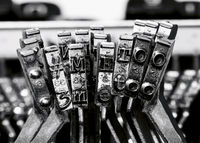 # me too with old typewriter macro monochrome