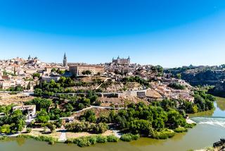 Toledo cityscape on summer day, Castilla La Mancha