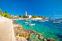 Hvar island franciscian monastery and emerald sea view