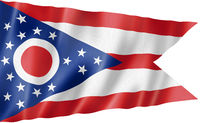 Ohio flag, USA