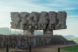 Monument to Struggle and Martyrdom in German concentration and extermination camp Majdanek. Lublin, Poland