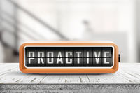 Proactive sign in the shape of a retro device
