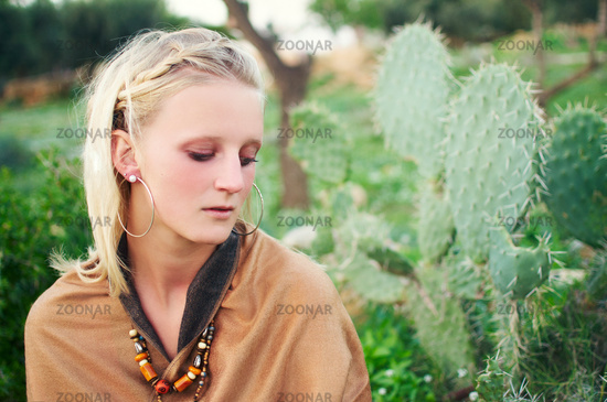 artful portrait of a young woman, young photography