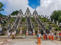 View on the Pura Lempuyang Luhur Temple in Bali, Indonesia