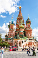 Saint Basil's (Pokrovsky) Cathedral on Red Square in Moscow
